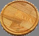 Доска для пиццы 50 см К ясень №13А