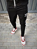 Adidas cпортивный мужской костюм черный с рефлективом весна-осеньМужской демисезонный спортивный костюм!, фото 4
