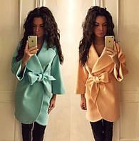 Женское Кашемировое Пальто на Запах с Поясом! 7 ЦВЕТОВ!