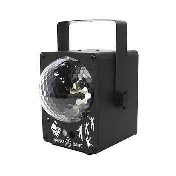 Лазерный проектор Lesko YSH030 светодиодный LED диско прибор цветомузыка прожектор для клубов