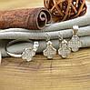 Серебряный набор  кольцо размер 18.5 + серьги 10х9 + кулон 15х10 мм вставка белые фианиты, фото 3