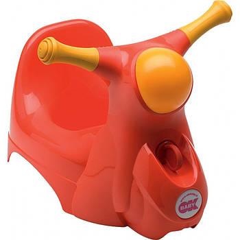Детский горшок мотоцикл с сигналом Ok Baby Scooter Красный (8008577008223)