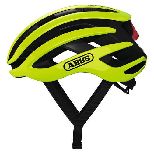Шолом велосипедний ABUS AIRBREAKER L 59-61 Neon Yellow, фото 2