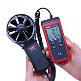 Анемометр Uni-t UT363S (от 0,4 м/с до  30 м/с; ±0,01 м/с; от -10ºC до 50ºC) Цена с НДС, фото 3
