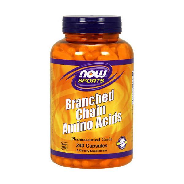 Амінокислоти BCAA NOW Branched Chain Amino Acids 240 caps