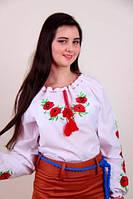 Вишита блуза вишиванка Еко-мак (довж./кор. рукав) 140 зростання, фото 1