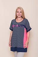 Яскрава смугаста блузка великих розмірів. Від виробника Туреччина. 44\56, 46\58, 48\60, 50\62 ОПТ - РОЗДРІБ, фото 1