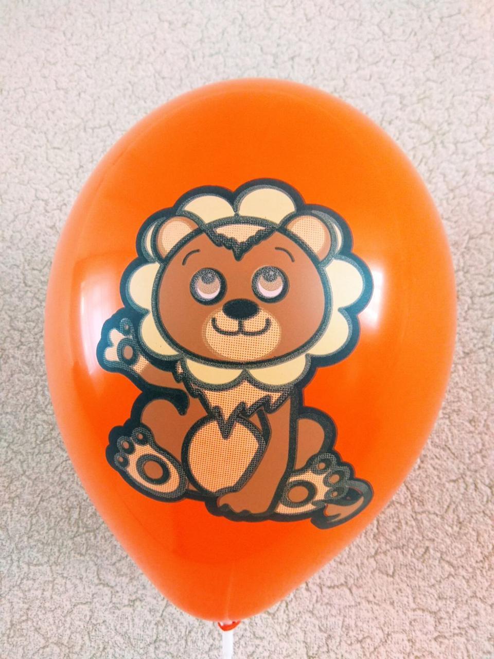 """Воздушные шары звери Львенок 12""""(30 см ) поштучно"""