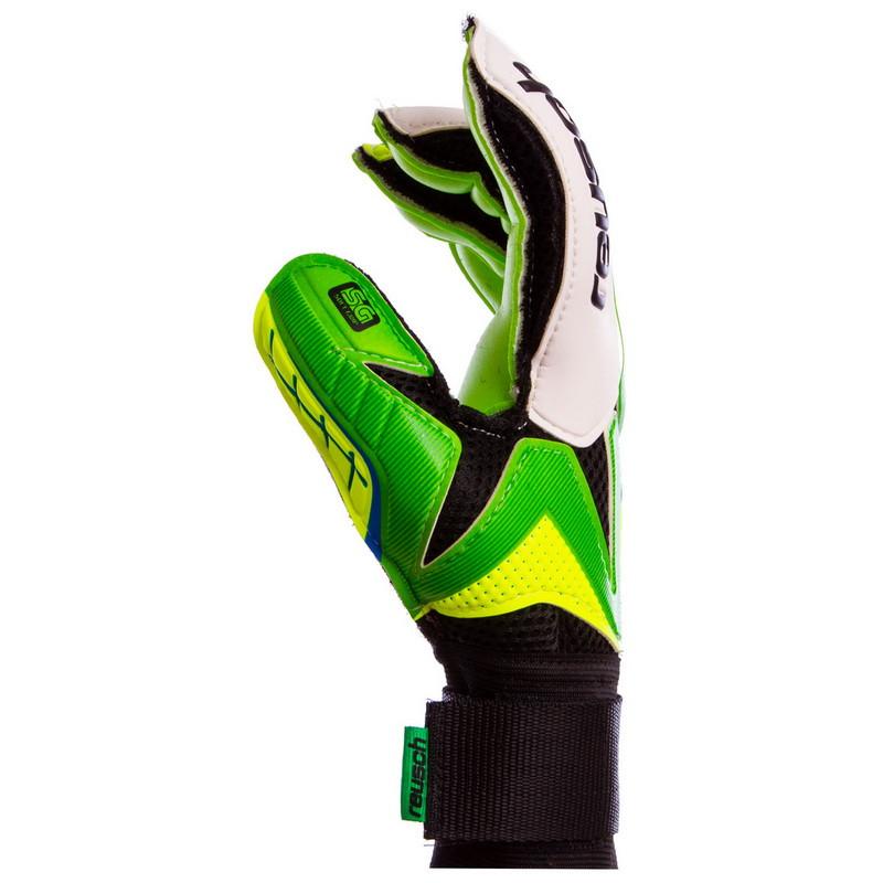 Перчатки вратарские юниорские FB-853B REUSCH Салатовый-зеленый размер 7