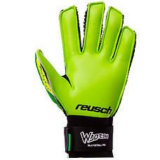 Перчатки вратарские юниорские FB-853B REUSCH Салатовый-зеленый размер 7, фото 2
