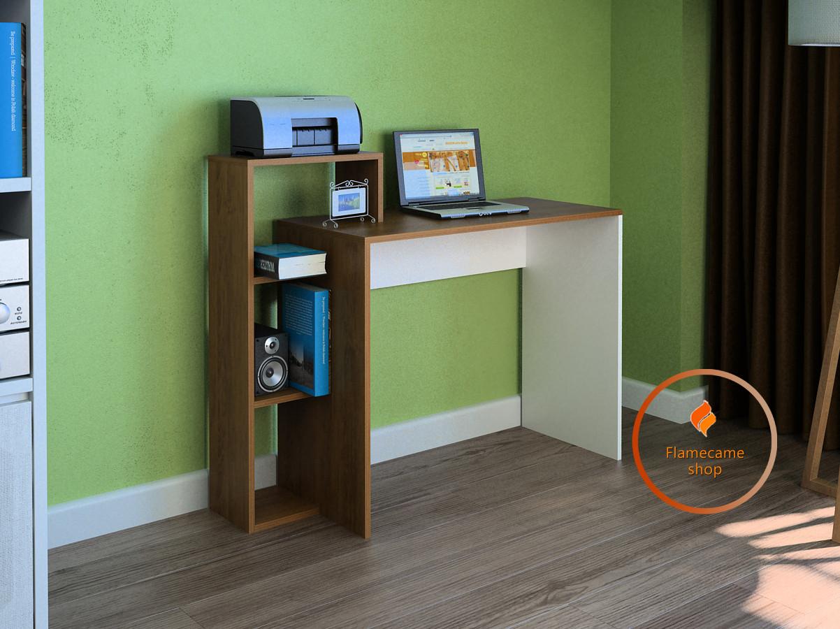 Компьютерный стол с полками из ДСП. Код: LG-34-3192