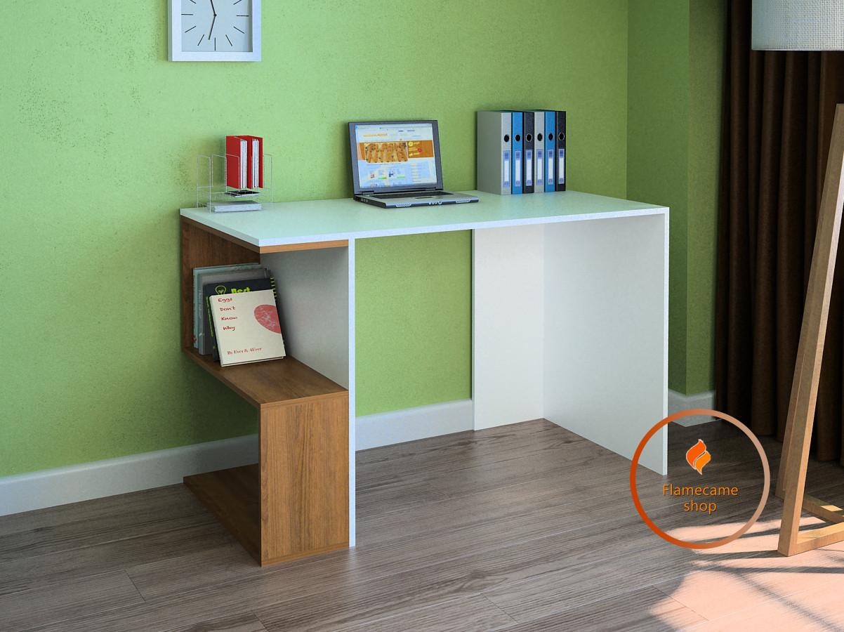 Комп'ютерний стіл з вигнутими полицями з ДСП. Код: LG-49-3192