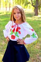 Дитяча вишита блуза вишиванка Марічка (Україна) 140 зростання, фото 1