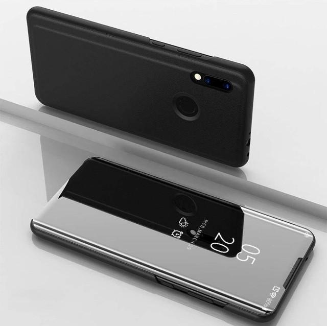 Чехол Mirror для Huawei P Smart 2019 книжка Зеркальная Черный