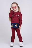 Удобный и стильный костюм 2-ка для девочки Микки (рост 98 см)бордовый