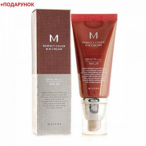ВВ крем Missha M Perfect Cover BB Cream SPF42/PA+++ No21/Light Beige(50ml), фото 2
