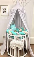 Бортик-косичка в детскую кроватку