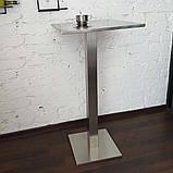 Столик барный из нержавеющий стали, фото 4