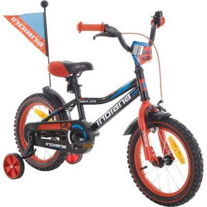 Велосипед INDIANA Rock Kid 14 Black/Red