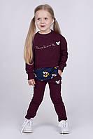 Удобный и стильный костюм 2-ка для девочки Микки (рост 92 см) сливовый
