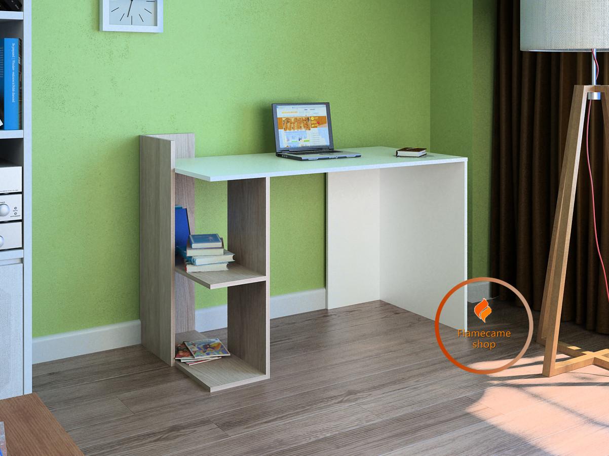 Компьютерный стол с 2 полками из ДСП. Код: LG-44-3192