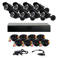 Комплект AHD видеонаблюдения на 8 уличных камер CoVi Security AHD-8W KIT