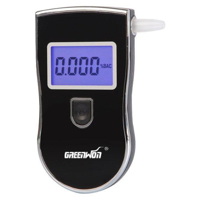 Карманный профессиональный цифровой алкотестер с экраном Greenwon AT818