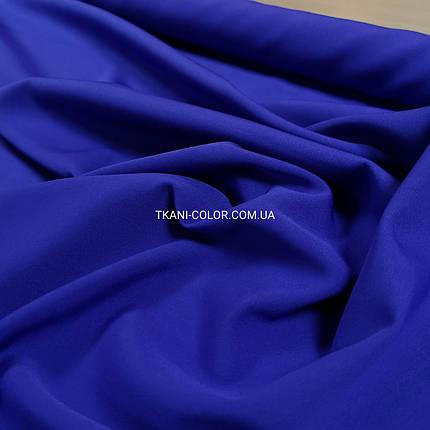 Костюмная ткань креп барби синий электрик, фото 2