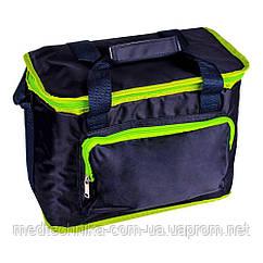Изотермическая сумка TE-3015SX, 15 л, черная/салатовая, Time Eco