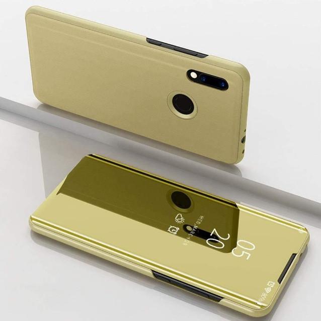 Чехол Mirror для Samsung A30 2019 / A20 2019 книжка Зеркальная Золотой