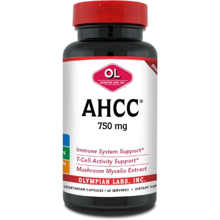 AHCC Active Hexose Correlated Compound, Olympian Labs, 750 mg 60 Caps