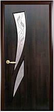 Камея+Р3 - Каштан (60, 70, 80, 90см). Коллекция МОДЕРН Delux. Межкомнатные двери Новый Стиль