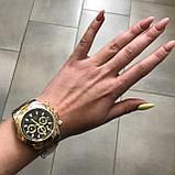 Rolex Daytona Quartz Date Silver-Gold-Black, фото 7