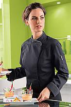 Китель поварской женский в стиле Hi-tech KL-270.2-KL (black) TEXSTYLE