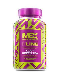 Конъюгированная линолевая кислота MEX CLA + Green Tea (90 softgels)  жиросжигатель