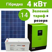 Гібридна СЕС - 4 кВт Сlassic