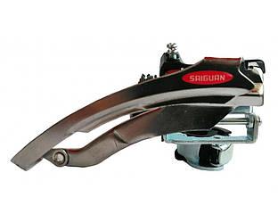 Переключатель передний Saiguan QD-23, диаметр хомута 28.6/34.9, универсальная тяга троса
