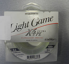 Шнур  TEAM SALMO LIGHT GAME X4 ULTRA PE 150 m 0.064mm 2.65kg
