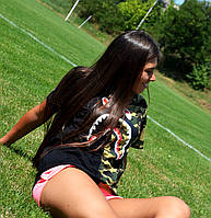 Женская Футболка в стиле Bape Shark FULL ZIP | ТОП Качество