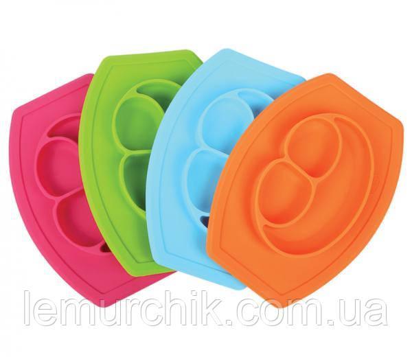 Тарелка-коврик для кормления Lindo силиконовая