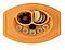 Тарелка-коврик для кормления Lindo силиконовая, фото 2