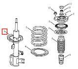 Амортизатор передний (газ) R LIFAN Solano (620), фото 2