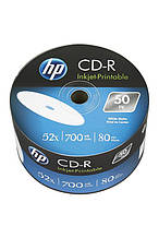 CD-R HP (69301 /CRE00070WIP-33) 700MB 52x IJ Print, без шпинделя, 50 шт