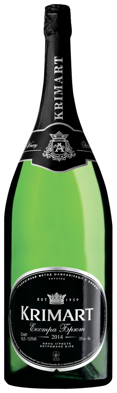 KRIMART біле екстра-брют вино ігристе 6 л