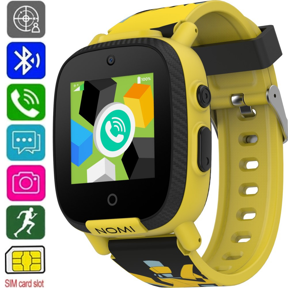 Смарт-часы детские Nomi Kids Transformers W2s (GPS + SIM) Yellow - Умные Часы