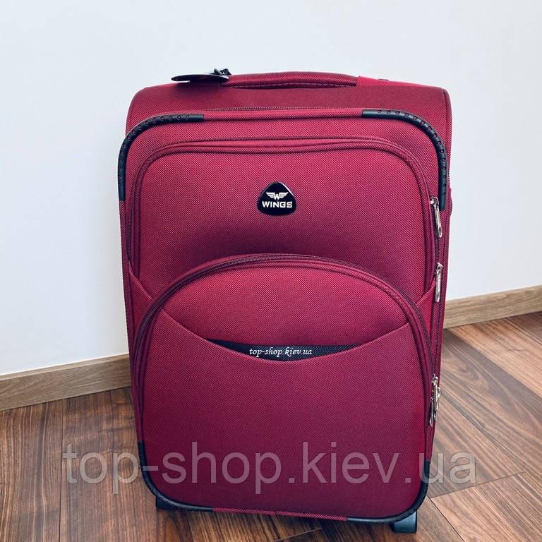 Дорожний чемодан Wings тканевый на 2 колесах 35 л маленький