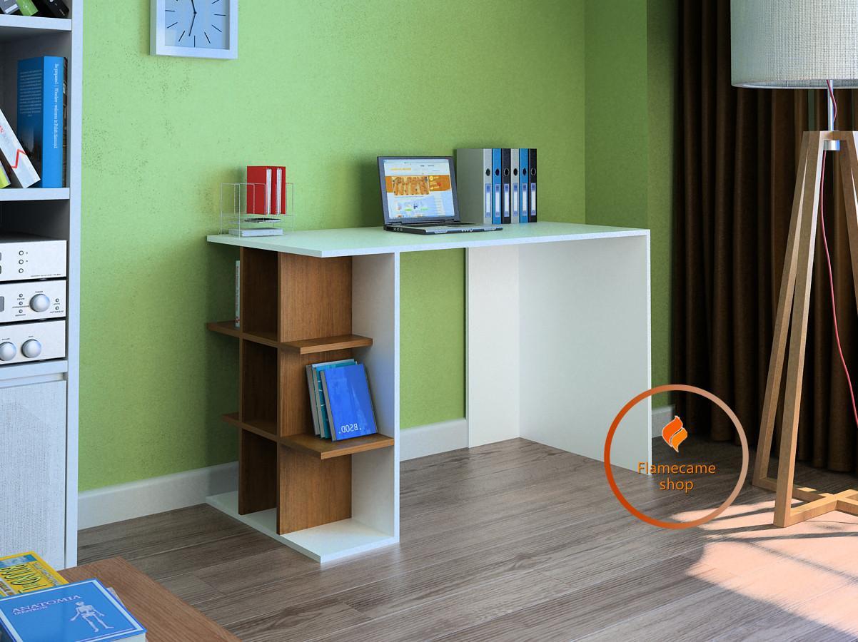 Комп'ютерний стіл з полками з боку з ДСП. Код: LG-43-3192