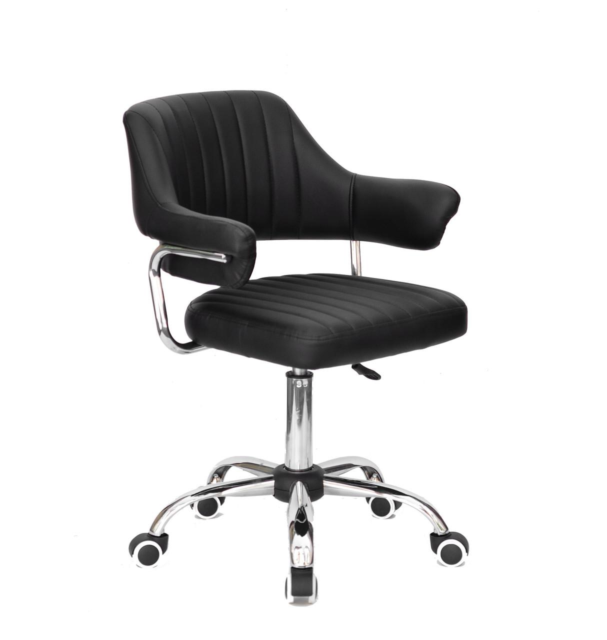 Кресло мастера Джеф JEFF CH - OFFICE черная экокожа, на колесах