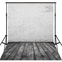 Фотофон, фон для фото виниловый текстурный Deep Vinyl Texture Cloth 150×210 см Кирпичная стена + Дерево 3