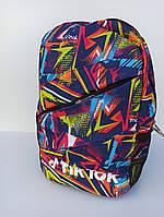 Рюкзак городской / спортивный молодежный с ярким принтом разноцветный Tik Tok